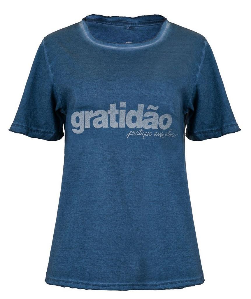 Camiseta Gratidão Pratique essa Ideia - Feminina