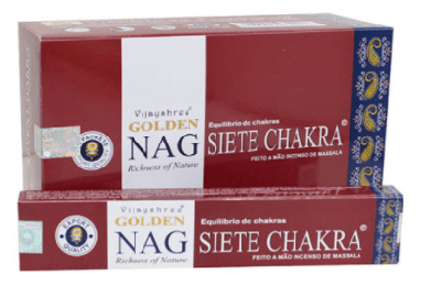 Incenso Golden Nag Seven Chakra - Incenso Indiano de Massala