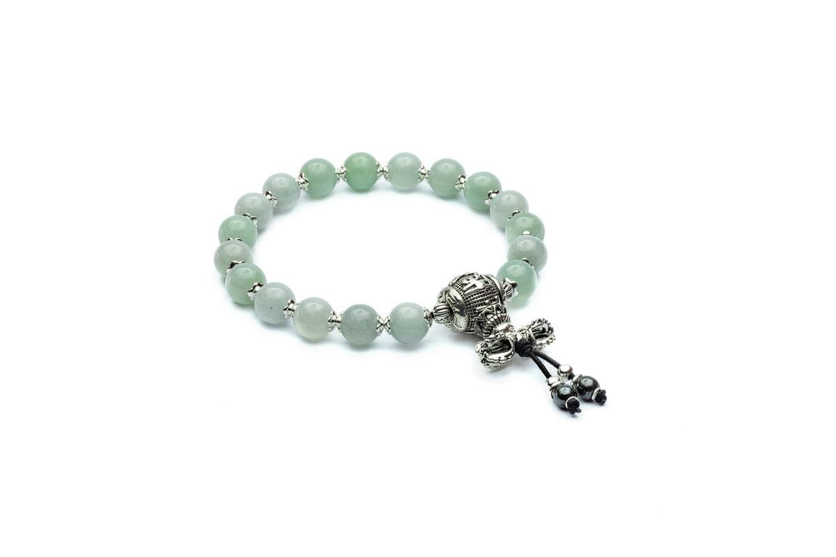 Japamala Pulseira Bracelete Budista JADEÍTA Jade Genuíno 18