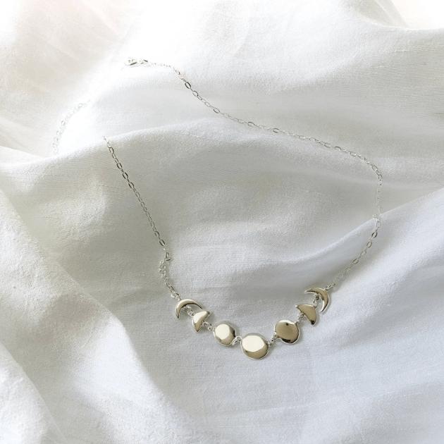 Colar Fases da Lua | Prata 925