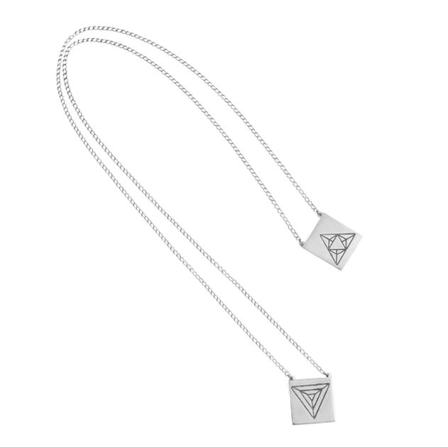 Escapulário Triângulos Energéticos | Prata 925