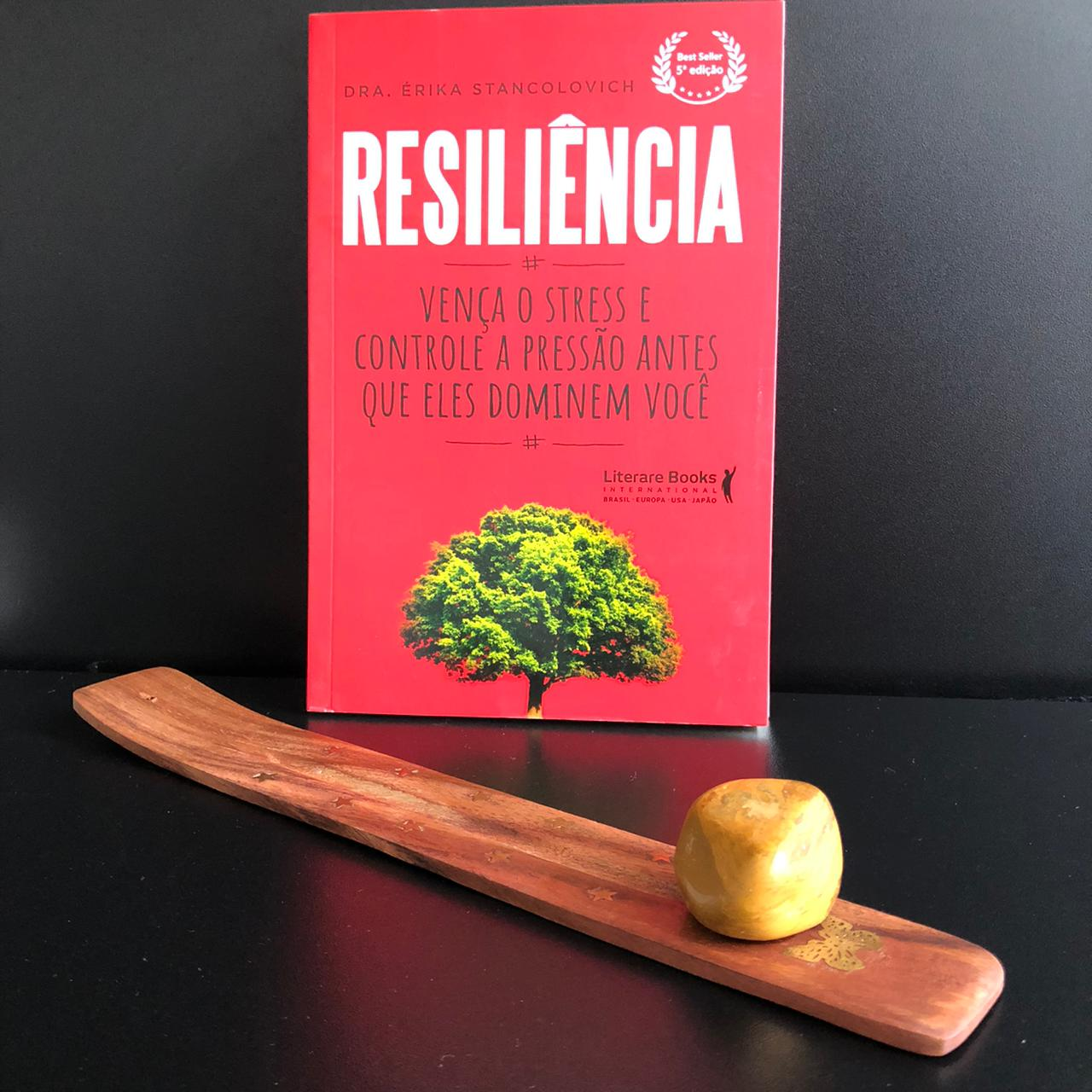 Resiliência - Vença o Stress e Controle A Pressão Antes Que Eles Dominem Você  + 1 incensário com pedra Jasper Madeira