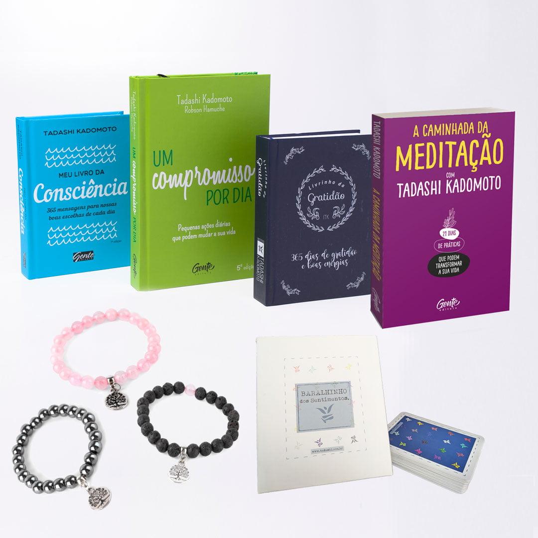Kit Livros Autoconhecimento 02 - 4 Livros + 3 Pulseiras + 1 Baralhinho dos Sentimentos