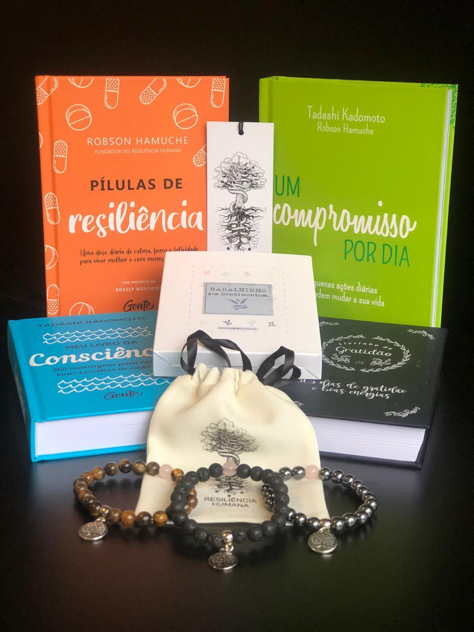 Kit Resiliente 02 - 4 Livros + 3 Pulseiras + 1 Baralhinho dos Sentimentos
