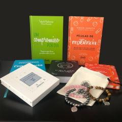 kit Resiliência - 4 Livros + 3 Pulseiras 1 Moleskine + 1 Baralhinho dos Sentimentos
