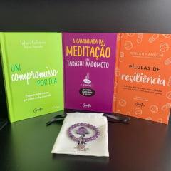 Kit A Caminhada do Autoconhecimento - 5 Livros + 1 Baralhinho dos Sentimentos + 1 Moleskini + 1Pulseira - Grátis Pedra de Ametista + Frete Grátis