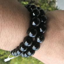 Pulseira Turmalina Negra - Conta 10mm