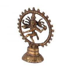 Shiva Nataraja  - 14CM na Roda de Fogo