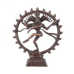 Shiva Nataraja 29CM na Roda de Fogo