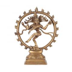 Shiva Nataraja 23CM na Roda de Fogo
