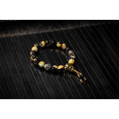 Japamala Bodhisattva Ágata de Fogo Mesclada 18 Contas