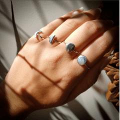 Anel Lua Cheia | Prata 925