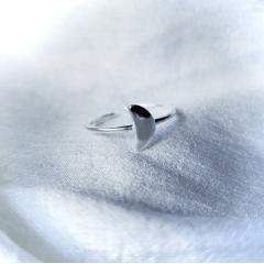 Anel Lua Crescente | Prata 925