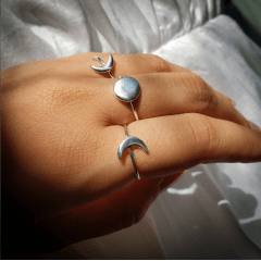 Anel Lua Nova | Prata 925