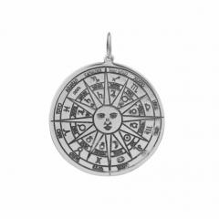 Pingente Medalha Astrológica | Prata 925
