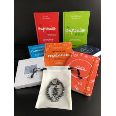 Kit Resiliência 2021 - 5 Livros + 1 Moleskini + 1 Baralhinho + 1 Pulseiras Hematita e Frete Grátis