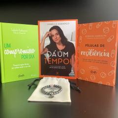 Kit Dá um Tempo - Encontre Seu Limite - 3 Livros + 1 Pulseira de Hematita com Quartzo Rosa