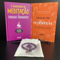 Kit A Caminhada do Autoconhecimento - 2 Livros + 1 Pulseira - Grátis Pedra de Ametista