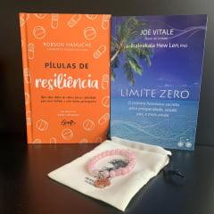 kit Ho'oponopono Amor e Relacionamento - Pílulas de Resiliência + Limite Zero + Pulseira de Quartzo Rosa
