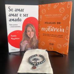 Kit Se Amar 2 Livros + Pulseira de Hematita com Quartzo Rosa Grátis - Pamela Magalhães