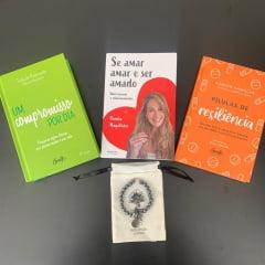 Kit Se Amar 3 Livros + Pulseira de Hematita com Quartzo Rosa Grátis - Pamela Magalhães