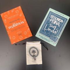 KIT 2 SEGUNDA-FEIRA SUA LINDA - CONTÉM: 2 Livros + 1 (UMA) Pulseira Hematita MASC.10mm