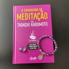 Livro A Caminhada da Meditação + 1 Pulseira de Ametista - Grátis Pedra de Ametista